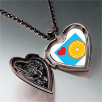 Necklace & Pendants - heart orange slice heart locket pendant necklace Image.