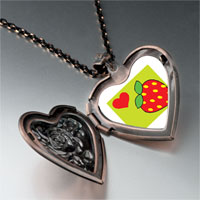 Necklace & Pendants - heart strawberry heart locket pendant necklace Image.