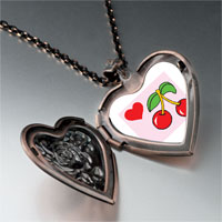 Necklace & Pendants - heart cherries heart locket pendant necklace Image.