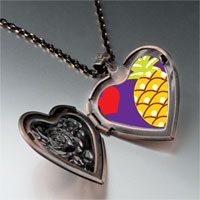 Necklace & Pendants - heart pineapple heart locket pendant necklace Image.