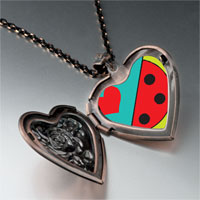 Necklace & Pendants - heart watermelon heart locket pendant necklace Image.