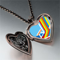 Necklace & Pendants - colorful beach chair heart locket pendant necklace Image.