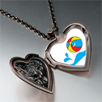 Necklace & Pendants - beach ball heart locket pendant necklace Image.