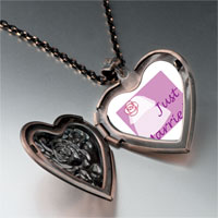 Necklace & Pendants - just married photo heart locket pendant necklace Image.