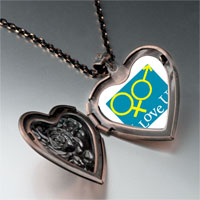 Necklace & Pendants - i love couple photo heart locket pendant necklace Image.
