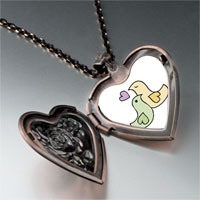 Necklace & Pendants - love doves heart locket pendant necklace Image.