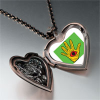 Necklace & Pendants - wooden hand craftwork heart locket pendant necklace Image.