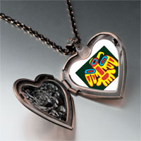 Necklace & Pendants - multicolored artistic bird heart locket pendant necklace Image.