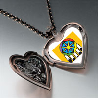 Necklace & Pendants - feather hat heart locket pendant necklace Image.