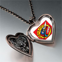 Necklace & Pendants - spear shield heart locket pendant necklace Image.