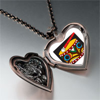 Necklace & Pendants - drum heart locket pendant necklace Image.