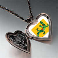 Necklace & Pendants - creative lizard heart locket pendant necklace Image.