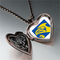 Necklace & Pendants - eagle face heart locket pendant necklace Image.