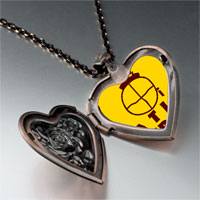Necklace & Pendants - face heart locket pendant necklace Image.