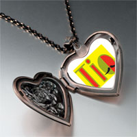 Necklace & Pendants - multicolored tio mustache heart locket pendant necklace Image.