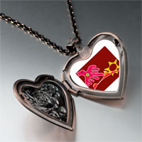 Necklace & Pendants - flying red bird heart locket pendant necklace Image.
