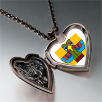 Necklace & Pendants - colorful bird sculpture heart locket pendant necklace Image.