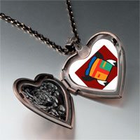 Necklace & Pendants - tribal mask feathers heart locket pendant necklace Image.