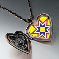 Necklace & Pendants - multicolored star heart locket pendant necklace Image.