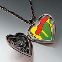 Necklace & Pendants - tio cactus hat heart locket pendant necklace Image.