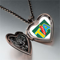Necklace & Pendants - tia chili pepper heart locket pendant necklace Image.