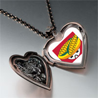 Necklace & Pendants - mexican corn heart locket pendant necklace Image.