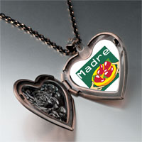 Necklace & Pendants - madre chili peppers heart locket pendant necklace Image.