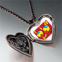 Necklace & Pendants - tia music instrument heart locket pendant necklace Image.