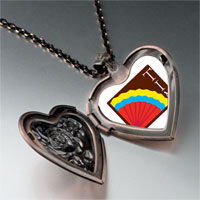 Necklace & Pendants - colorful kokopelli heart heart locket pendant necklace Image.