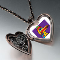 Necklace & Pendants - wooden bird craftwork heart locket pendant necklace Image.