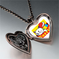 Necklace & Pendants - small cat kitten gatito heart locket pendant necklace Image.