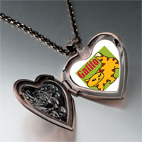 Necklace & Pendants - orange tabby gatito cat heart locket pendant necklace Image.