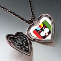 Necklace & Pendants - colorful artistic cat heart locket pendant necklace Image.