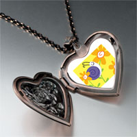 Necklace & Pendants - happy flower snail heart locket pendant necklace Image.