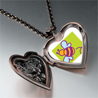 Necklace & Pendants - bumblebee heart locket pendant necklace Image.