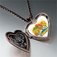 Necklace & Pendants - golden fall autumn heart locket pendant necklace Image.