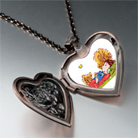 Necklace & Pendants - boy sleeping autumn heart locket pendant necklace Image.