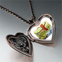 Necklace & Pendants - autumn creek river heart locket pendant necklace Image.