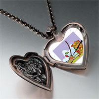 Necklace & Pendants - fall autumn yardwork heart locket pendant necklace Image.