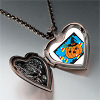 Necklace & Pendants - jack o lantern halloween pumpkin candy corn heart and rose pendant Image.