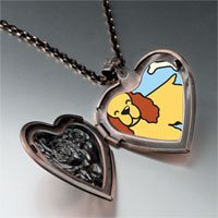 Necklace & Pendants - cocker spaniel dog yellow heart locket pendant necklace Image.