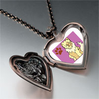 Necklace & Pendants - sheepdog animal heart locket pendant necklace Image.