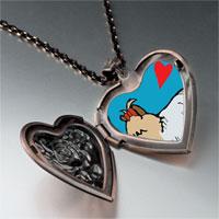 Necklace & Pendants - yorkshire terrier dog white heart locket pendant necklace Image.
