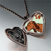 Necklace & Pendants - blood hound dog heart locket pendant necklace Image.