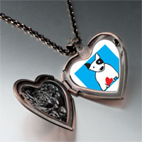 Necklace & Pendants - bull terrier dog heart locket pendant necklace Image.