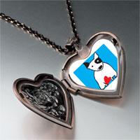 Necklace & Pendants - bull terrier dog heart locket pendant necklace Image.