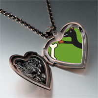 Necklace & Pendants - doberman dog heart locket pendant necklace Image.