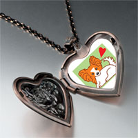 Necklace & Pendants - papillion dog heart locket pendant necklace Image.