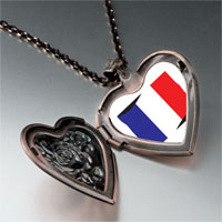 Necklace & Pendants - france flag heart locket pendant necklace Image.