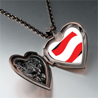 Necklace & Pendants - austria flag heart locket pendant necklace Image.